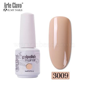 8ml Special Nail Gel, for Nail Art Stamping Print, Varnish Manicure Starter Kit, Dark Salmon, Bottle: 25x66mm(MRMJ-P006-H009)