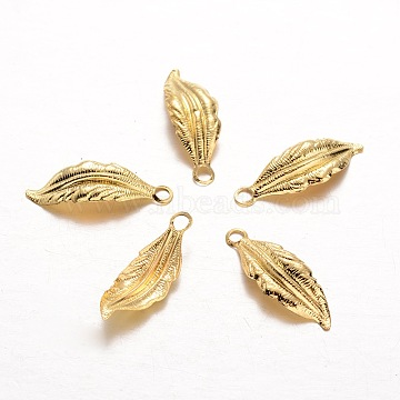 Golden Leaf Iron Pendants