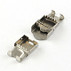 Smooth Surface 201 Stainless Steel Watch Band Clasps(X-STAS-R063-79)-4