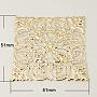 Iron Filigree Large Pendants, Square, Golden, 51x51x0.5mm, Hole: 1mm