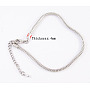 Brass European Style Necklaces with Brass Lobster Claw Clasp, Platinum Color, about 3mm thick, 45cm long, the Adjustable Iron Chain: 6.5cm