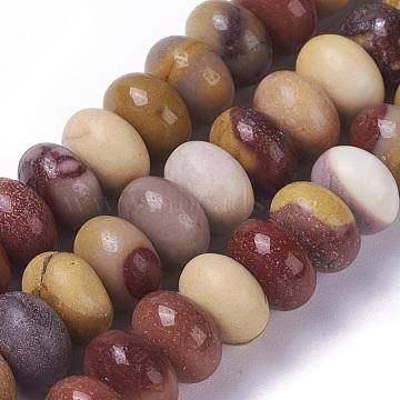 perles de Mookaite naturel brins, rondelle, 8~8.4x5~5.5 mm, trou: 0.8 mm; environ 73 perle / brin, 15.23 15.35 cm)(G-E541-07)