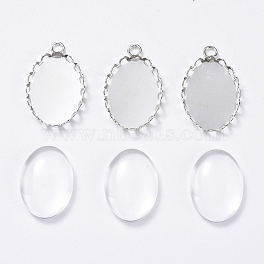 Clear Oval Brass+Glass Pendant Making