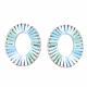 Handmade Raffia Woven Linging Rings(WOVE-S120-01D)-2