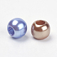 Mixed Color Rondelle Large Hole Charms Acrylic Beads Fit European Beading Bracelet Making(X-OPDL-C002-M)-2