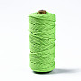 Cotton String Threads, Macrame Cord, Decorative String Threads, for DIY Crafts, Gift Wrapping and Jewelry Making, Light Green, 3mm, about 109.36 yards(100m)/roll