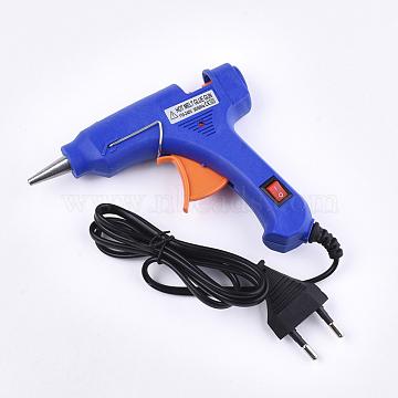 Jewelry Tools, Hot Melt Glue Gun, Voltage: 110-240V, Power: 20W, Blue, 109x127x22mm; Fit for 8mm Plastic Sticks(TOOL-S010-03A)