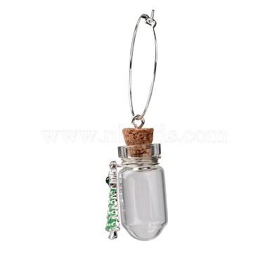 verre souhaitant charmes de verre de vin de la bouteille(X-AJEW-JO00134)-2