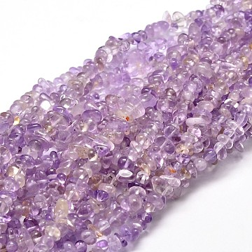 Natural Ametrine Chip Beads Strands, 4~15x5~8mm, Hole: 1mm; about 31.5inches(G-E271-60)