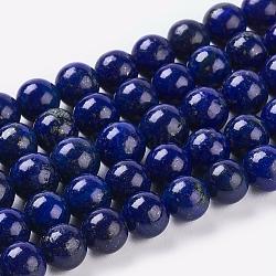 "Chapelets de perles en lapis-lazuli naturel, teint, rond, bleu, 6mm, trou: 1mm; environ 32 pcs/chapelet, 7.6""(X-G-G087-6mm)"