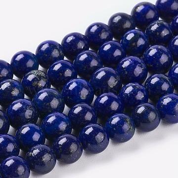 6mm Blue Round Lapis Lazuli Beads