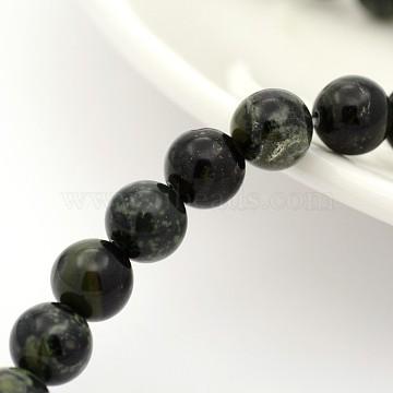 Natural Kambaba Jasper Beads Strands, Round, 6mm, Hole: 1mm, about 31pcs/strand, 7.5 inches(X-G-M272-04-6mm)