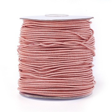 2mm PaleVioletRed Polyester+Metallic Cord Thread & Cord