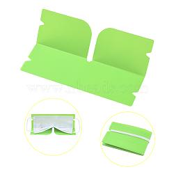 Organisateur de clip de rangement en plastique pliable portable, pour couvre-bouche jetable, lime, 190x120x0.3mm(AJEW-E034-71F)