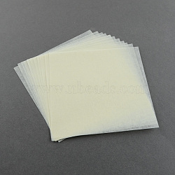 Planche à papier utilisé pour les perles à repasser diy, lightgoldenrodyellow, 110x110 mm; environ 12 PCs / sac(X-DIY-R017-11x11cm)