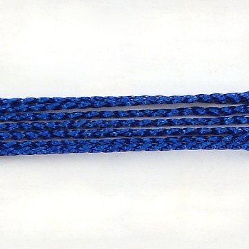 Braided Non-Elastic Beading Metallic Cords, 8-Ply, Blue, 1mm, about 109.36 yards(100m)/bundle(MCOR-R002-1mm-08)