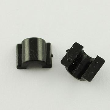 Plastic Base Buckles, Hair Findings, for DIY Hair Tie Accessories, Black, 12x9x6mm(FIND-R011)