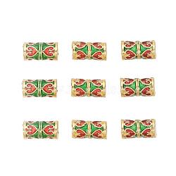 Perles en émail d'alliage de style chinois, colonne, or, colorées, 10~10.5x5~5.5mm, Trou: 2~2.5mm(X-ENAM-L015-04A-G)