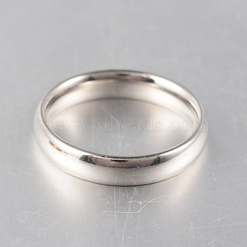 316 Surgical Stainless Steel Rings, Stainless Steel Color, 17mm(X-RJEW-N020-18P-17mm)