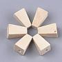 Antique White Trapezoid Wood Beads(X-WOOD-S053-14)