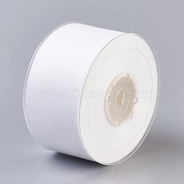 Rayon and Cotton Ribbon, Twill Tape Ribbon, Herringbone Ribbon, Snow, 1-1/4 inches(32mm), about 50yards/roll(45.72m/roll)(SRIB-F007-029-32mm)