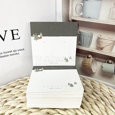 Рождественские тематические бумажные карточки для ювелирных украшений(CDIS-A003-02)-3