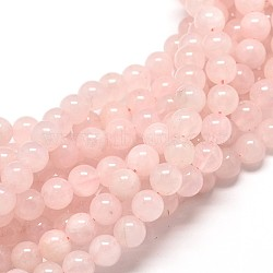 Natural Rose Quartz Round Bead Strands, 10mm, Hole: 1mm; about 40pcs/strand, 16inches
