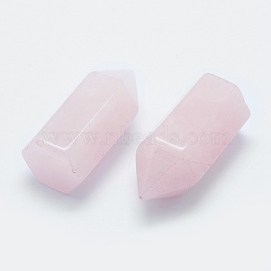Natural Rose Quartz Pointed Beads(X-G-G760-K20)-2