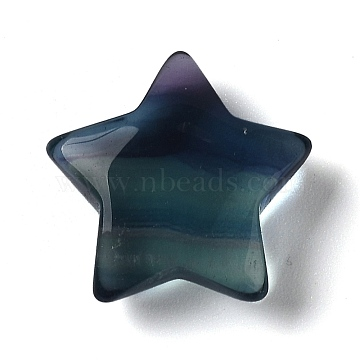 Natural Fluorite Beads, for Wire Wrapped Pendant Making, No Hole/Undrilled, Star, 26x26x9mm(G-Z001-06)