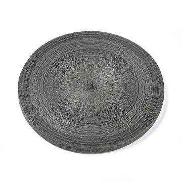 Cotton Ribbons, Herringbone Ribbon, for Jewelry Making, Dark Slate Gray, 3/8 inch(10mm); about 50yard/roll(45.72m/roll)(OCOR-TAC0001-05B)