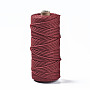 Cotton String Threads, Macrame Cord, Decorative String Threads, for DIY Crafts, Gift Wrapping and Jewelry Making, Brown, 3mm, about 109.36 yards(100m)/roll
