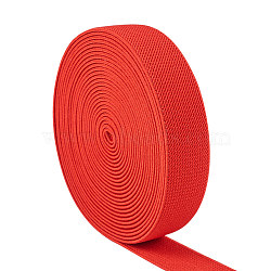 Flat Elastic Rubber Cord/Band, Webbing Garment Sewing Accessories, Red, 24.5x2mm, about 5.46 yards(5m)/roll(EC-WH0006-01B)