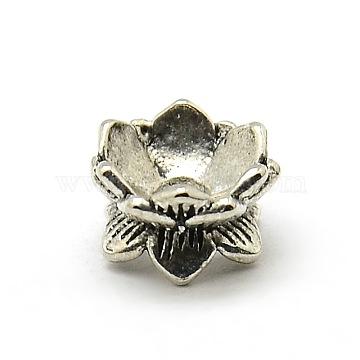 100pcs Tibetan Alloy Flower Bead Cap 5-Petal Antique Golden Jewelry Findings 9mm