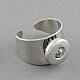 Platinum Brass Snap Cuff Rings(X-KK-S087)-1