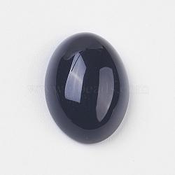 Cabochons en agate noire naturelle, ovale, noir, 18x13x5~6.5mm(X-G-BA18x13x5)