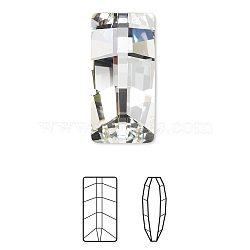 cristal autrichien cabochons de strass, 4524, passions de cristal, déjouer retour, rectangle facettes, 001 _crystal, 16x8x5 mm(X-4524-16x8-001(F))