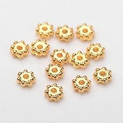 Abs flocon electroplated plastique séparateurs perles, or, 4x1.7mm, trou: 1 mm; environ 1640 pcs / 20 g(X-KY-I002-01A)