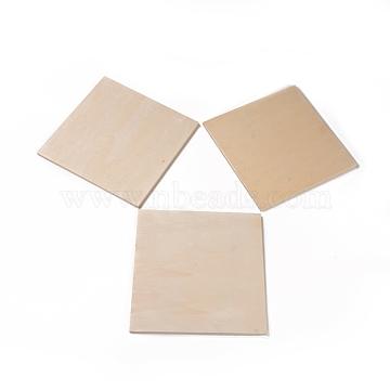 Undyed Natural Wood Mosaic Bases, for DIY Glass Mosaic Tiles Crafts, Rectangle, BurlyWood, 20x20x0.8cm(DIY-G023-01A)