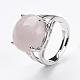Adjustable Natural Rose Quartz Finger Rings(RJEW-F075-01O)-4