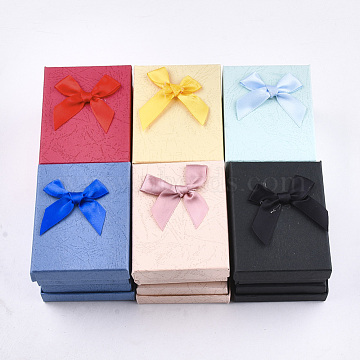 Mixed Color Rectangle Paper Jewelry Set Box