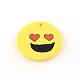 Handmade Smile Face Polymer Clay Pendants(X-CLAY-R060-110)-2
