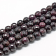 Natural Garnet Beads Strands(X-G-R447-6mm-01)-1