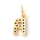 Brass Micro Pave Cubic Zirconia Charms(ZIRC-F092-01-R)-2