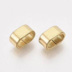 304 Stainless Steel Slide Charms, Rectangle, Golden, 5x10x6mm, Hole: 8x4mm(X-STAS-T045-46G)