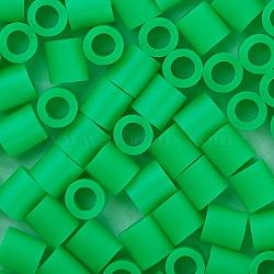 1 boîte 5 mm perles fondantes pe bricolage en perles à repasser recharges perler perles pour les enfants, Tube, lime, 5x5mm, trou: 3 mm; environ 500 / boîte(DIY-X0047-92-B)