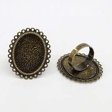 Antique Bronze Brass Ring Components