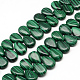 Drop Synthetic Malachite Pendant Beads Strands(G-R307-03)-1