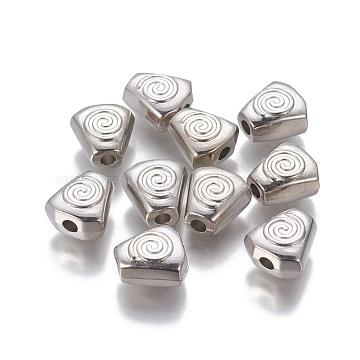 12mm Trapezoid Plastic Beads