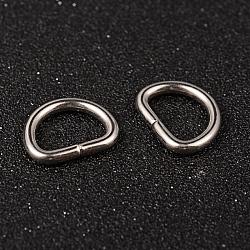 304 anneaux en acier inoxydable, fermoirs à boucle, pour la sangle, sacs de cerclage, Accessoires de vêtement, couleur inoxydable, 15x19x3mm(STAS-M251-02)