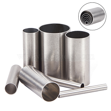 Stainless Steel Cookie Cutters, Cookies Molds, DIY Biscuit Baking Tool, Column, Stainless Steel Color, Box: 4.9x4cm; Inner Diameter: 15mm/11mm/9.5mm/7.5mm/5.5mm/3.5mm/2.5mm; 7pcs/box(DIY-WH0148-73)